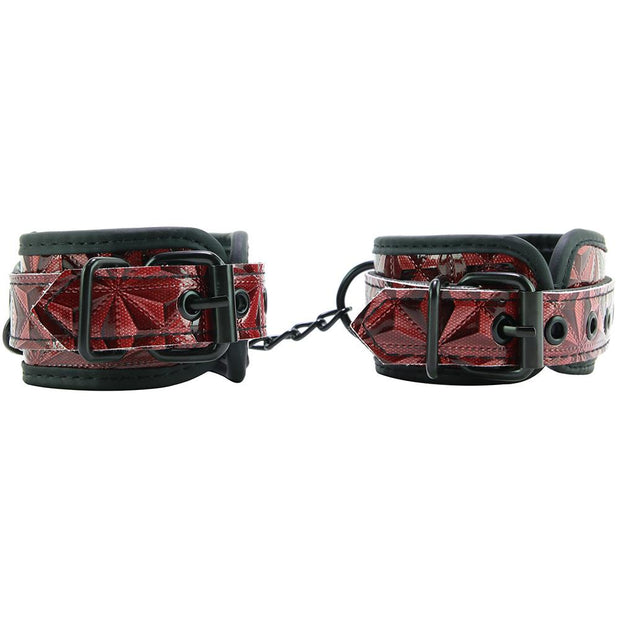 Ouch! Luxury Ankle Cuffs in Burgundy