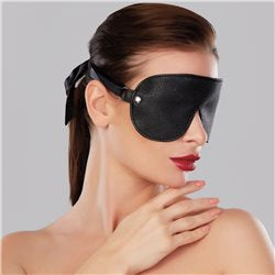 Adore Pebbled Faux Leather Reversible Mask Black
