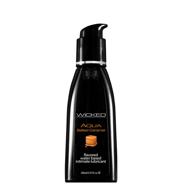 Aqua Flavored Lube 2oz/60ml in Salted Caramel