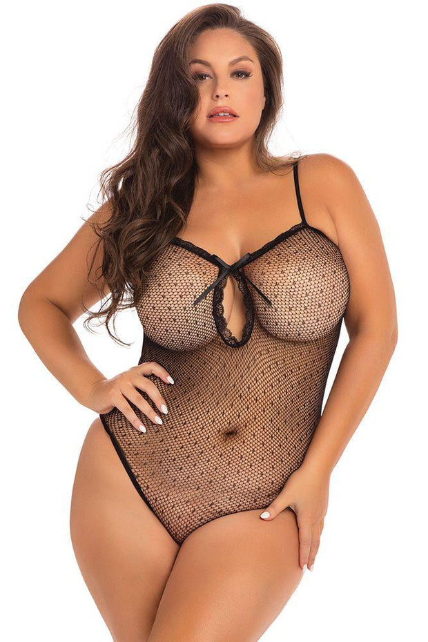 Undone See Through Black Bodysuit OSXL