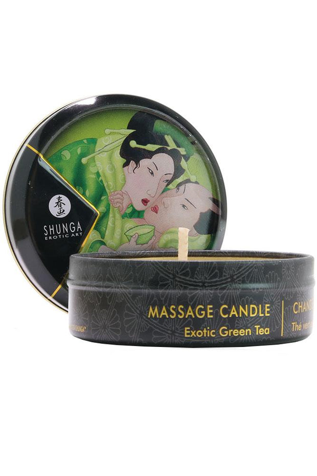 Mini Massage Candle 1oz/30ml in Exotic Green Tea