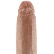 "King Cock 9"" Vibrating Ballsy Dildo in Tan"