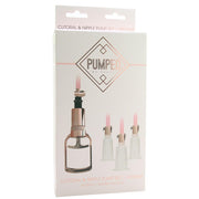 Pumped Rose Gold Clitoral & Nipple Pump Set in Medium