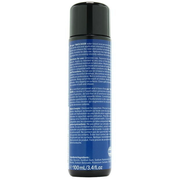 Back Door Water Based Anal Lubricant in 3.4oz/100ml