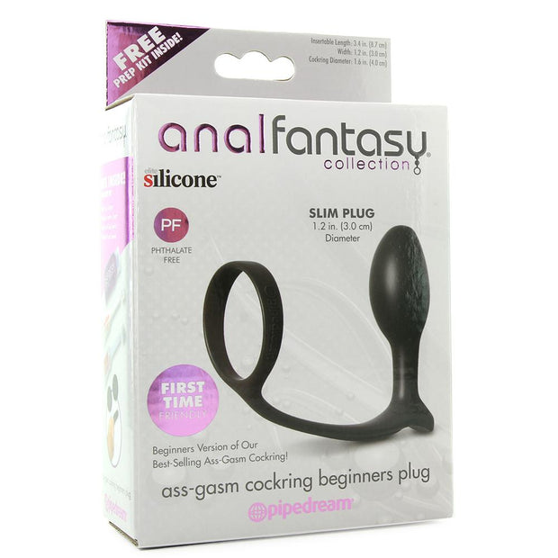 Anal Fantasy Ass Gasm Beginner Cock Ring Plug
