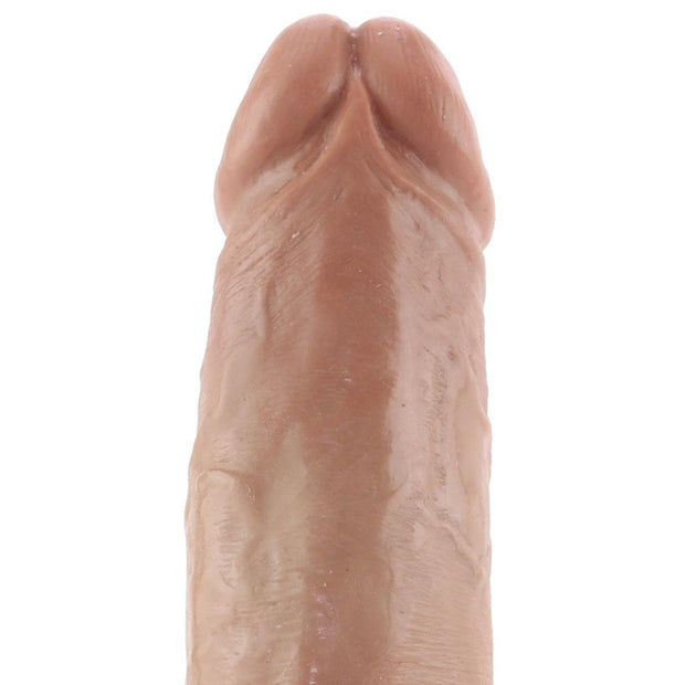 "King Cock 6"" Vibrating Suction Cup Dildo in Tan"