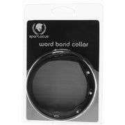 Bad Kitty Leather Word Band Collar