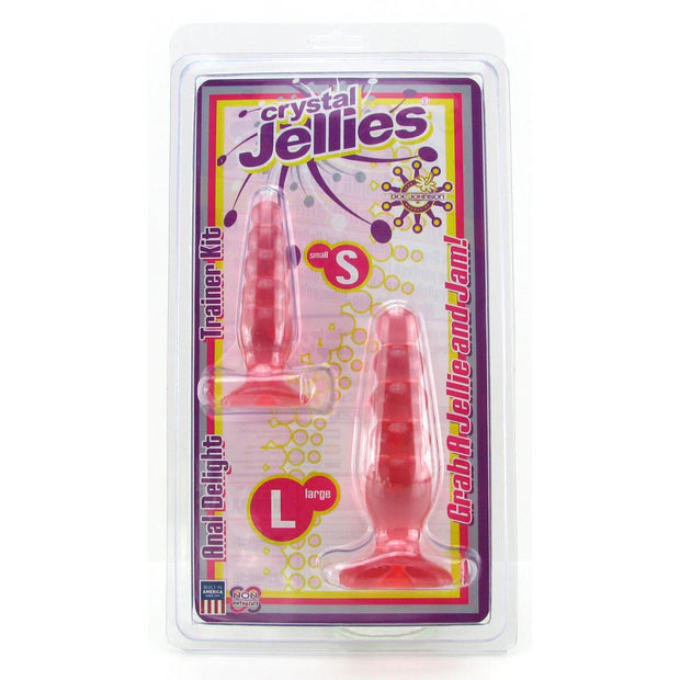 Crystal Jellies Anal Delight Trainer Kit in Pink