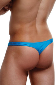 Blue Low Rise Thong in M/L