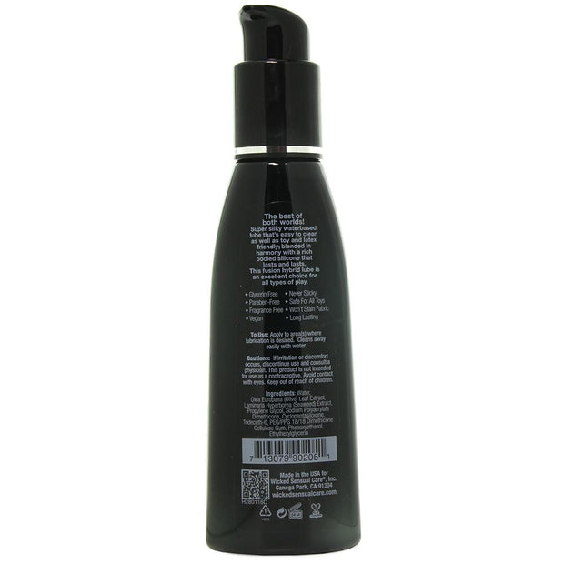 Hybrid Water & Silicone Lubricant in 120ml/4oz