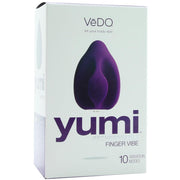 Yumi Rechargeable Finger Vibe in The Deep Purple package front box
