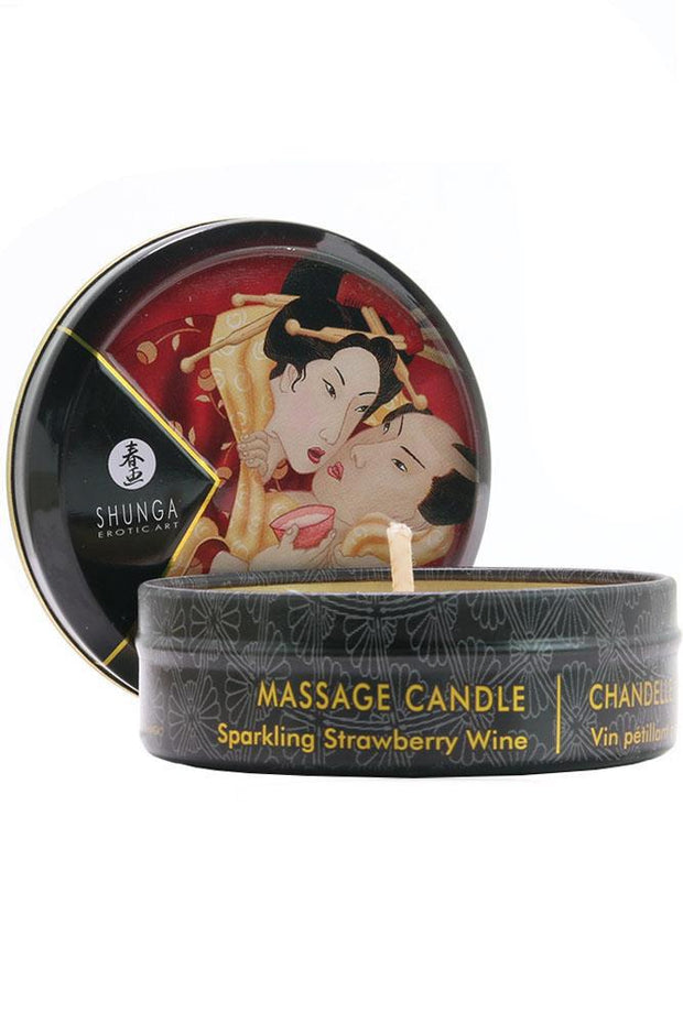 Mini Massage Candle 1oz/30ml in Sparkling Strawberry Wine