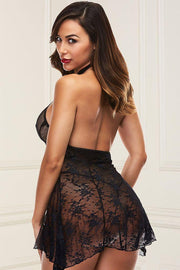 Head Over Heels Lace Babydoll in S/M