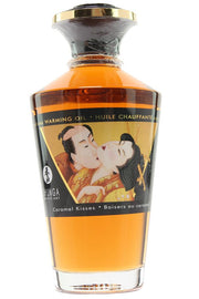 Aphrodisiac Warming Oil 3.5oz/100ml in Caramel Kisses