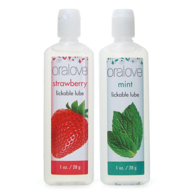 Oralove Delicious Duo Lickable Lubes in Strawberry & Mint