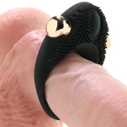 X-Gen Frederick's Of Hollywood's Vibrating Couple's Ring Black Gold Textured Rechargeable