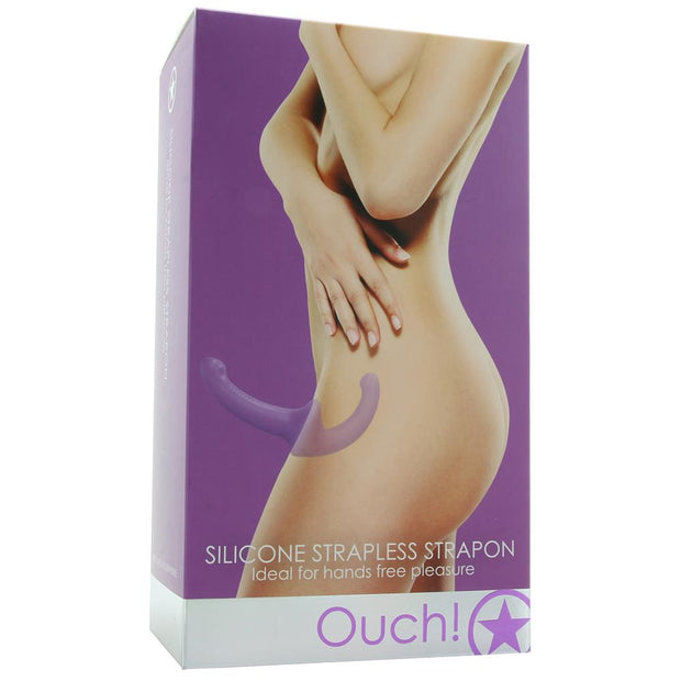 Ouch! Silicone Strapless Strap-On in Purple