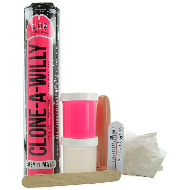 Clone-A-Willy Glow in the Dark in Hot Pink