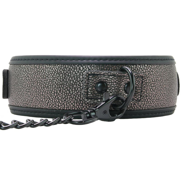 Ouch! Elegant Collar with Leash in Grey