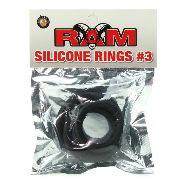 Ram Silicone Cock Rings #3 in Black