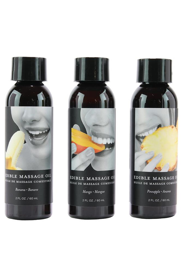 Edible Massage Oil Gift Set 3x2oz in Tropical