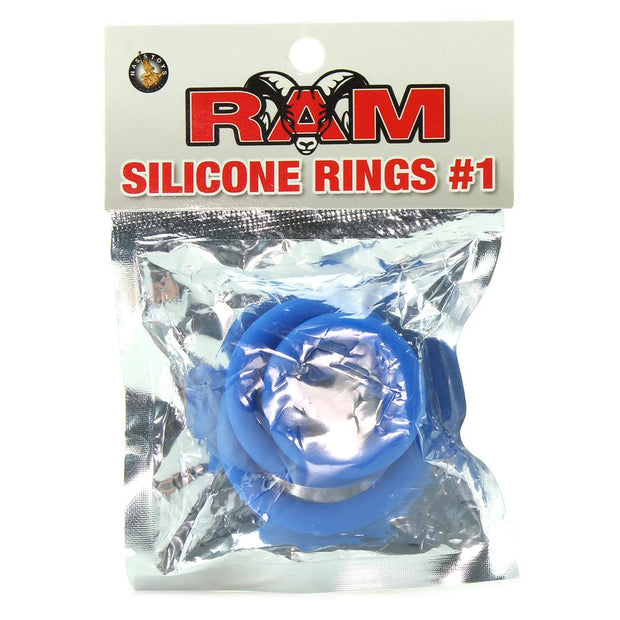 Ram Silicone Cock Rings #1 in Blue