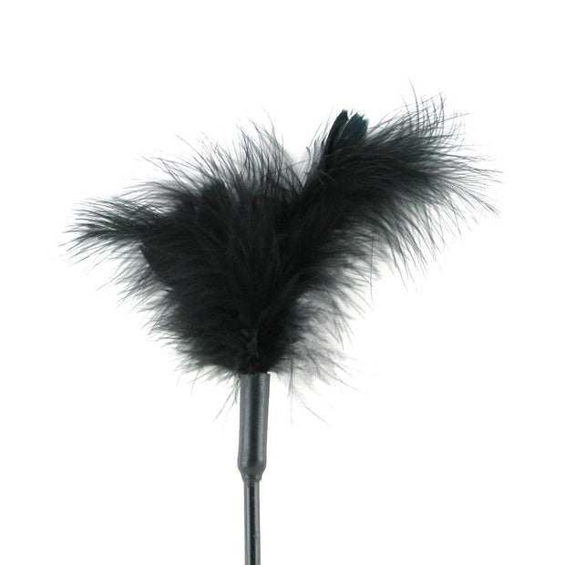 Feather Tickler 7 Inch in Black