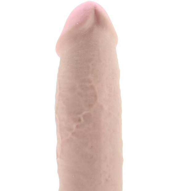 "King Cock Plus Triple Density 10"" Fat Ballsy Cock in Flesh"