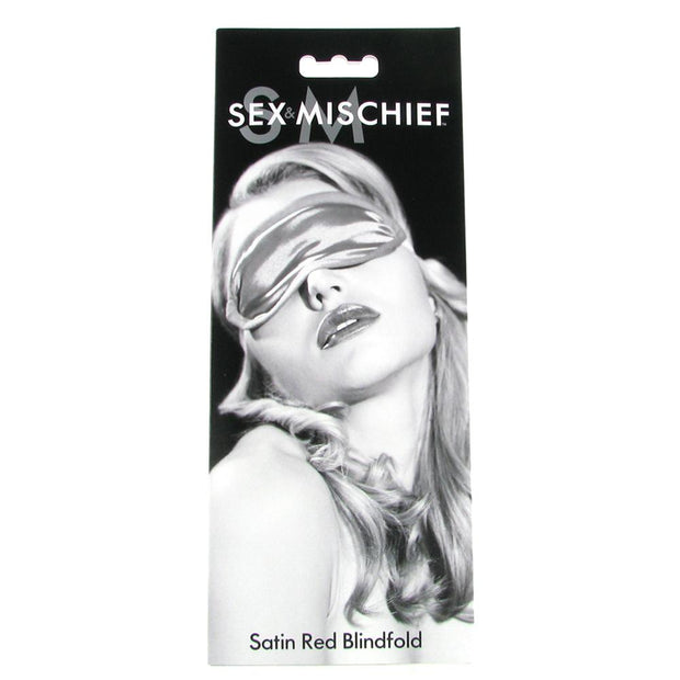 Sex & Mischief Satin Blindfold in Red