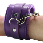 Ouch! Premium Plush Wrist Cuffs in Purple