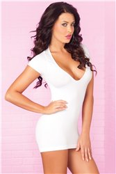 Party In The Back Mini Dress White S/M