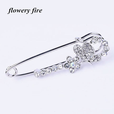 Crystal Rhinestone Butterfly Brooches hijab pins