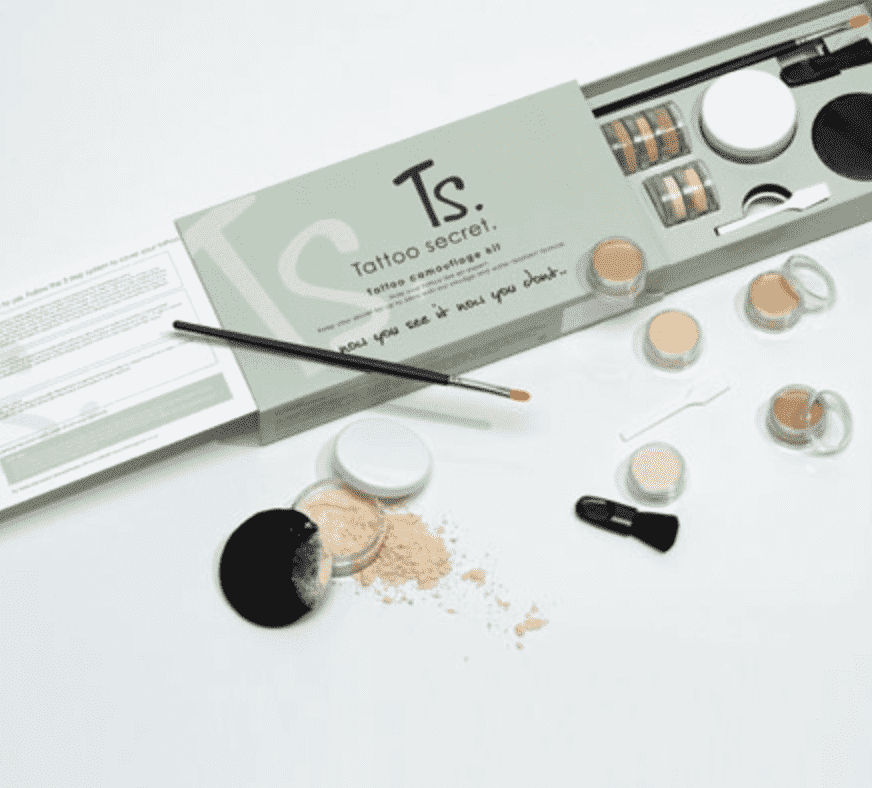Makeup kit that covers tattoos