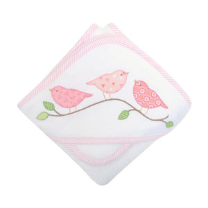 Our hooded towel and washcloth set is made of extra soft, pure cotton terry for newborn's sensitive skin. The towel is so large that it can last well into the toddler years.  The hood is covered with a pique layer, which helps to hold a monogram beautifully and is backed with terry cloth for extra absorbency.  The washcloth is trimmed with coordinating fabric, making the perfect bath time set.