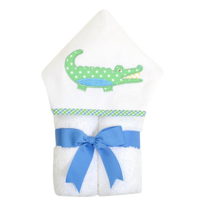 3 Martha's Blue Alligator EveryKid Hooded Towel