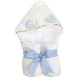 3 Martha's Blue Lamb EveryKid Hooded Towel
