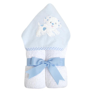 3 Martha's Blue Puppy EveryKid Hooded Towel