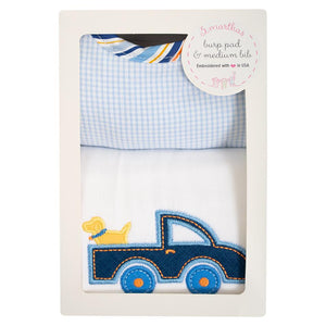 3 Martha's Truck Bib & Burp Box Set