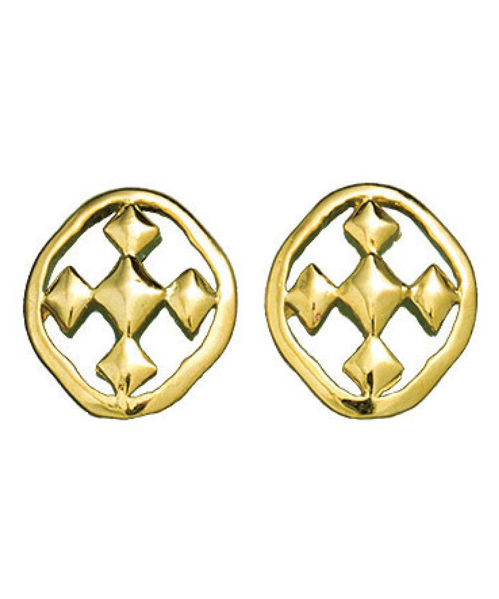 POST EARRINGS- 18K GOLD PLATED OR RHODIUM PLATED