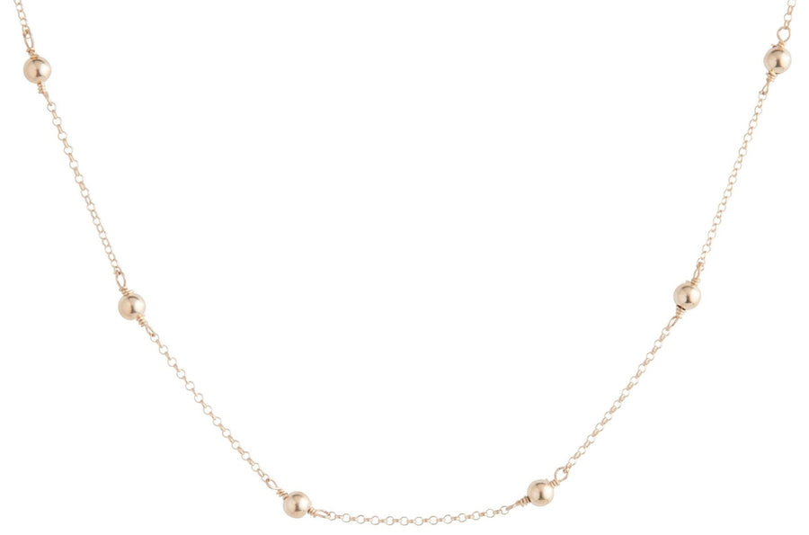 E Newton  Choker Simplicity Chain Gold - 4mm Bead Gold