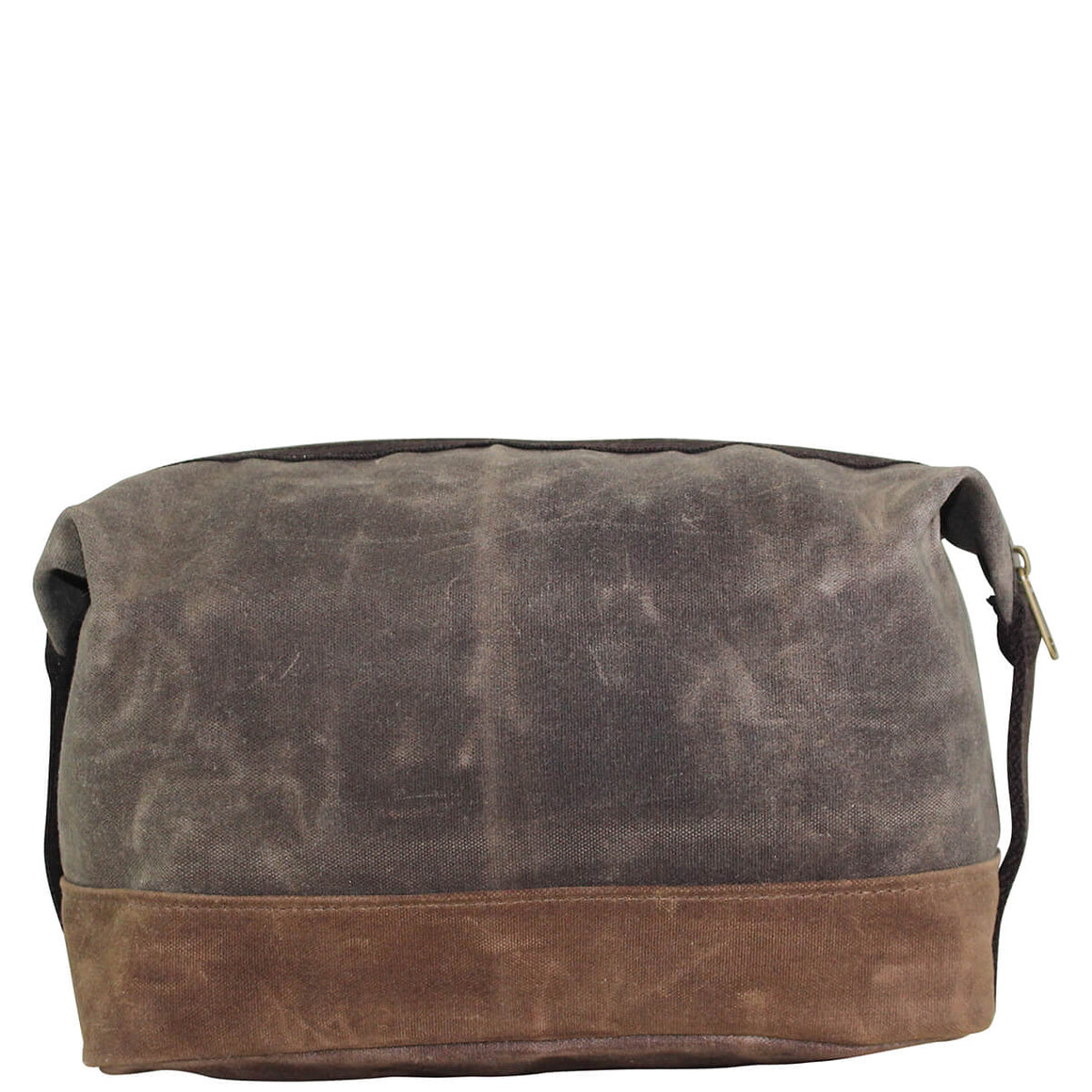 Waxed Canvas Top Zip Dopp Kit Olive