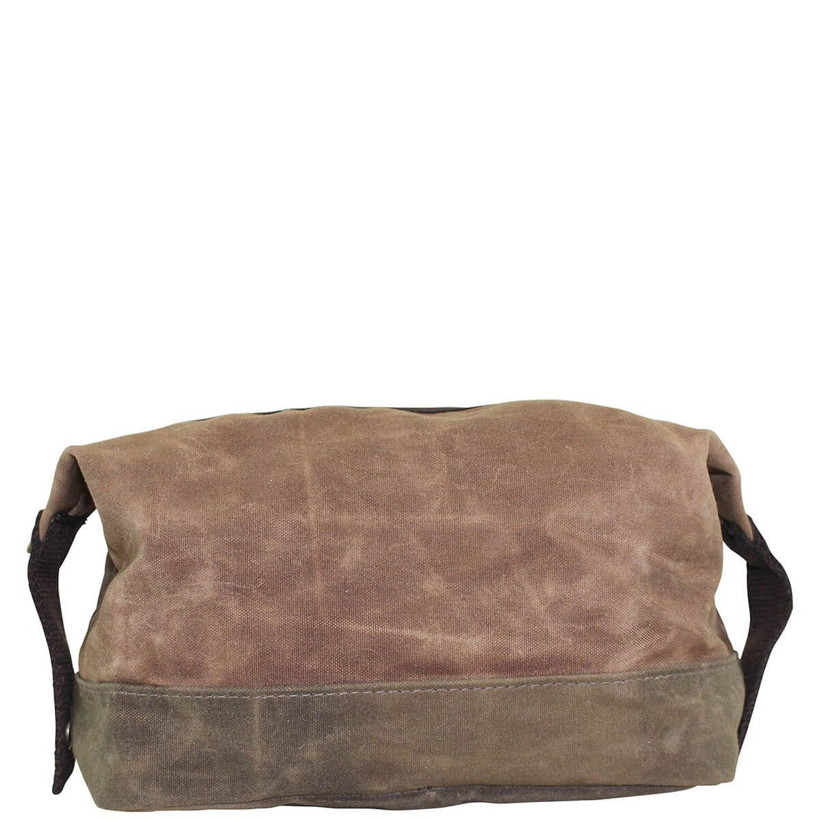 Waxed Canvas Top Zip Dopp Kit Khaki