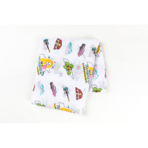 TN Swaddle Blanket Floral