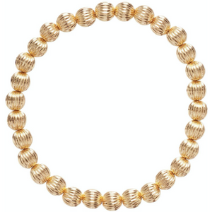 E Newton Dignity Gold 6mm Bead Bracelet