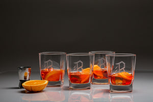 STERLING DOUBLE OLD FASHIONED - SET OF 4