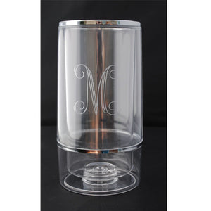 "ACRYLIC DOUBLE WALL WINE COOLER - 5"" X 9 1/8"""