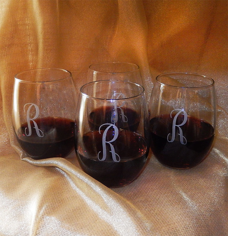 15 OZ STEMLESS WINE GLASSES - SET OF 4