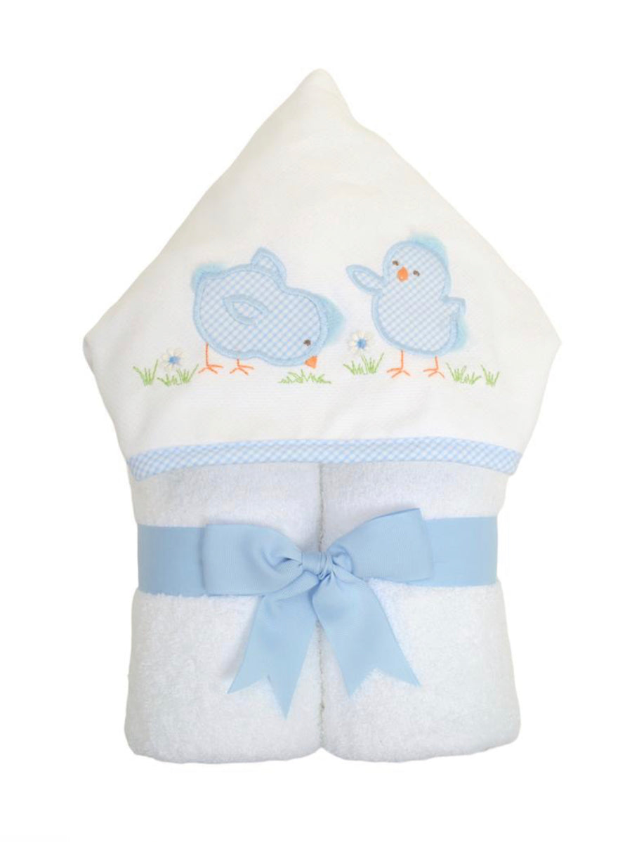 3 Martha's Blue Chick EveryKid Hooded Towel