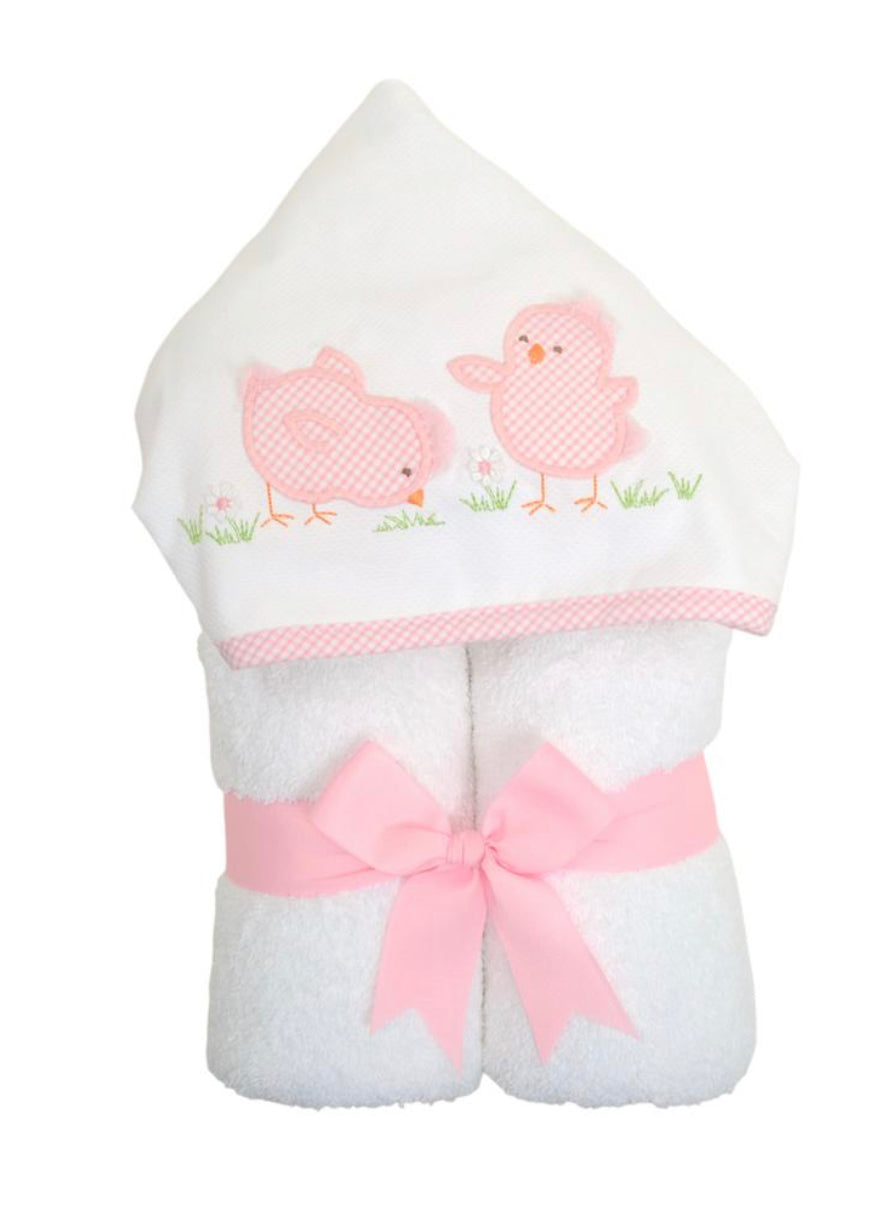 3 Martha's Pink Chick  EveryKid Hooded Towel