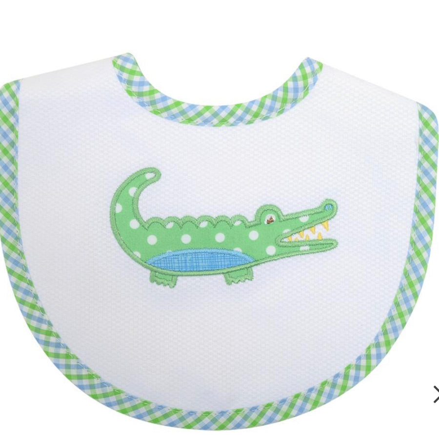 3 Martha's Blue Alligator Bib